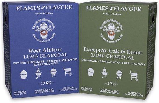 Voordeelpakket Restaurant Houtskool 22 KG voor Big Green Egg - Kamado Kettle BBQ van Flames & Flavour