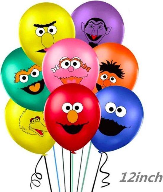 ProductGoods - 10x Sesamstraat Ballonnen Verjaardag - Verjaardag Kinderen - Ballonnen - Ballonnen Verjaardag - Sesamstraat - Kinderfeestje
