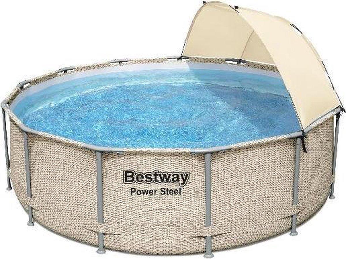 Bestway zwembad power steel set rond rotan 396