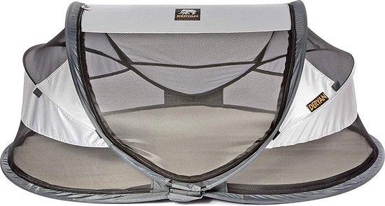 Deryan Baby Luxe Campingbedje – Inclusief zelfopblaasbare matras - Silver - 2021