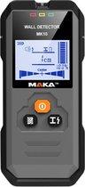 MAKA Digitale leidingzoeker - Verlicht LCD scherm - Koper Metaal en Hout - Detectie tot 120mm diep – Leidingdetector - Kabelzoeker