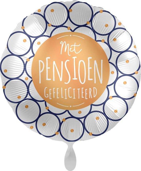 Everloon - Folieballon - Met Pensioen Gefeliciteerd - 43cm - Voor Pensioen/VUT