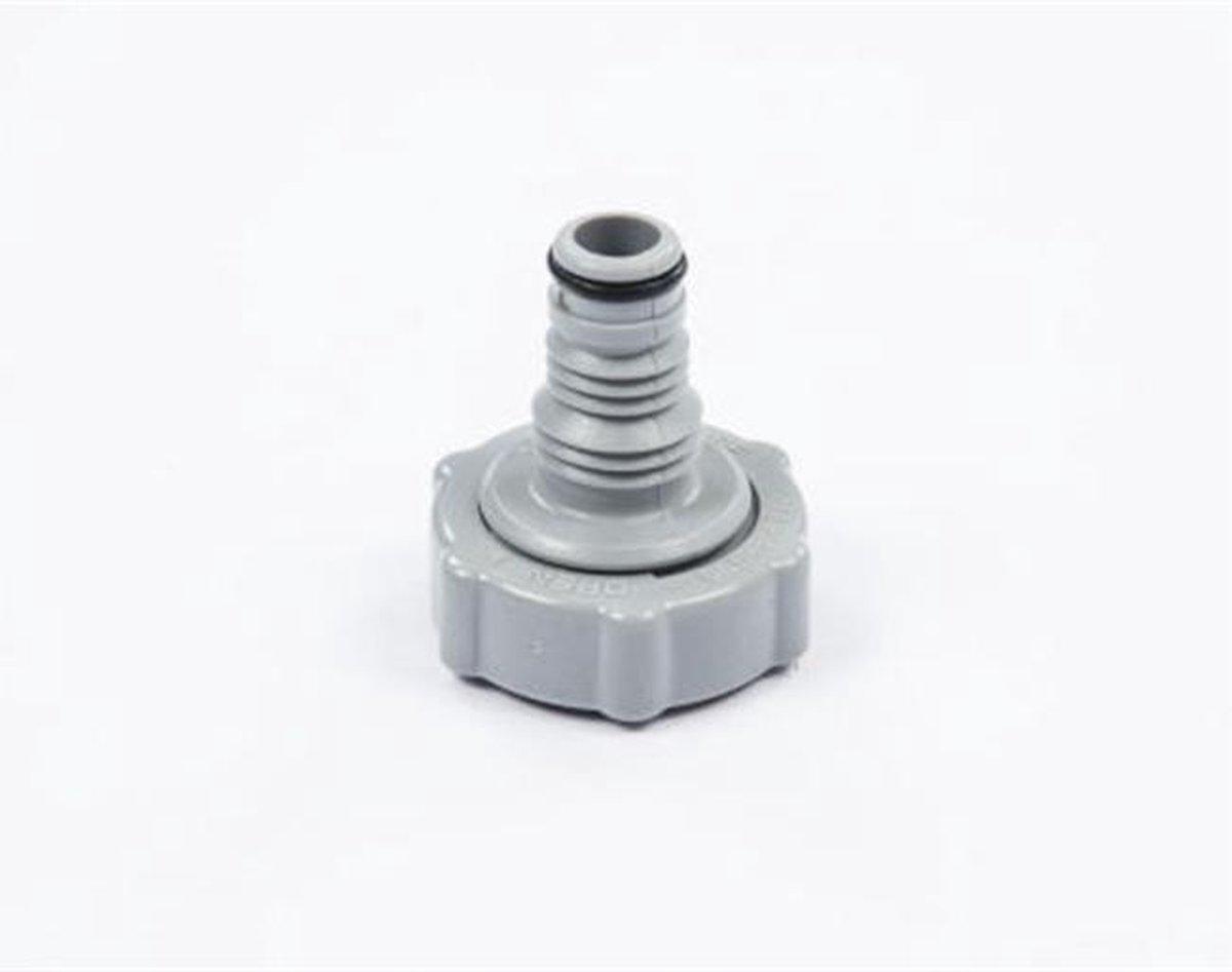 Bestway slang adapter groot grijs - uitlaat ventiel