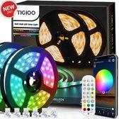 Tigioo LED strip 10 meter - Wifi Lichtstrip met 16 kleuren - Dimbaar - incl. App & Afstandsbediening - Zelfklevend