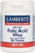 Lamberts Foliumzuur 400mcg - 100 Tabletten