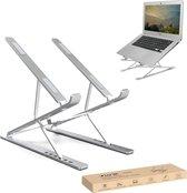 LURK® LIFT compact laptopstandaard Opvouwbaar – Ergonomische Laptophouder – Hoogte verstelbaar – Notebook/boek/tablet – Aluminium – 11 t/m 17 inch