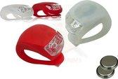Fietslampjes   Wit en Rood   4 Stuks   LED   Inclusief batterij