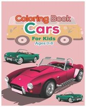 Coloring book Cars for kids Ages 0-8
