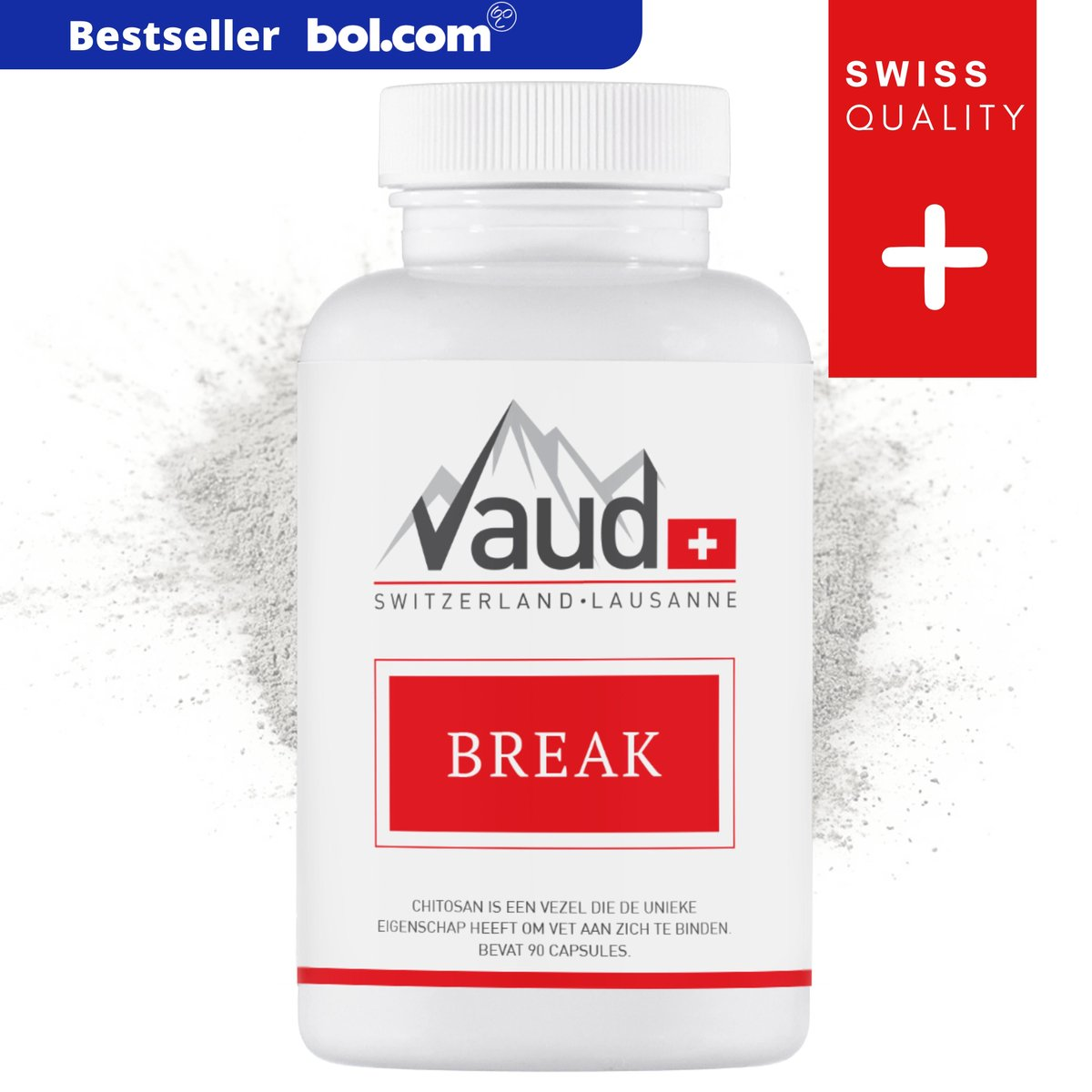 Vaud   Break   90 Capsules   1500mg chitosan   Afvallen   Afslank product   Afval pillen   Fatburner