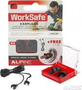 Alpine WorkSafe - Klus oordoppen - Voorkomt gehoorschade - Zwart - SNR 23 dB - 1 paar