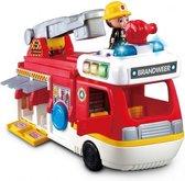 VTech Vrolijke Vriendjes 2 in 1 Brandweerwagen - Educatief Babyspeelgoed