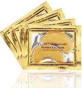 Collageen oogmasker - Crystal Collagen Gold Powder - Wallen wegwerken - Verhelpt wallen en donkere kringen onder de ogen- Hydraterend - Collageen Oogpads - 4 st - 2 paar
