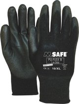 Pu-Flex Werkhandschoenen Zwart 11408600 - maat 8/M