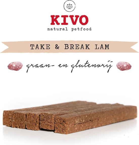 Natuurlijke snack hond - Take & Break Lam 16 stuks. Kauwstaaf hypoallergeen zonder granen of gluten