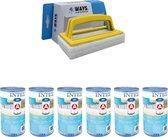 Intex - A filters - 6 stuks - Geschikt voor filterpomp 28604GS/28638GS/28636GS & WAYS scrubborstel