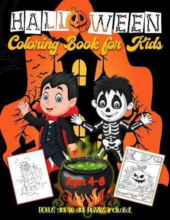 Halloween Coloring Book for Kids 4-8