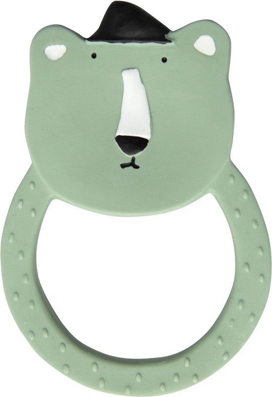 Trixie natuurrubber ronde bijttring | Mr. Polar Bear | Natural Rubber Round Teether | Badspeelgoed