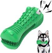 Tandenborstel Hond Melk Geur Smaak en Piep Honden Speelgoed Dog Toy - Krokodil Groen - Dutchwide®