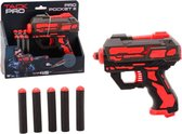 Tack Pro Pocket 3 6 Darts Blaster Zwart/Rood (darts incl)