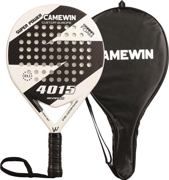 CAMEWIN Padel Racket – Wit – met Opberghoes