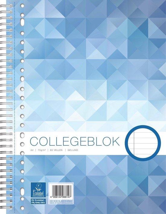 Afbeelding van Work collegeblok A4 - lijn - 70 grams - 23 gaats - 80 vel - 1 stuk