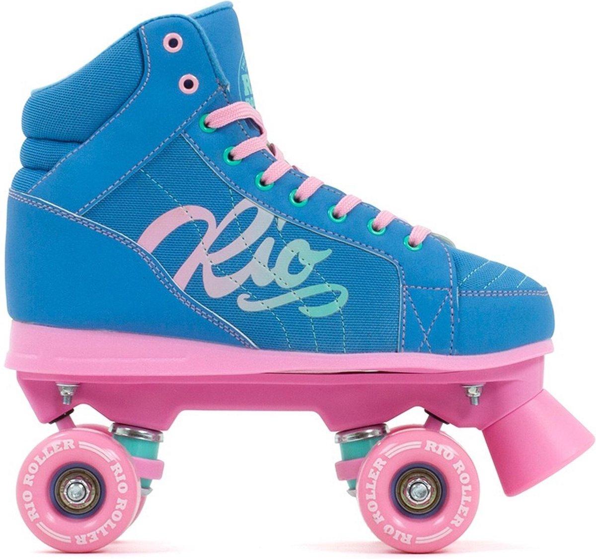 Rio Roller Rolschaatsen - Maat 38Kinderen - blauw - roze