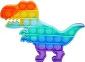 Pop It - Fidget Toy - 12,5 cm - Regenboog Dino