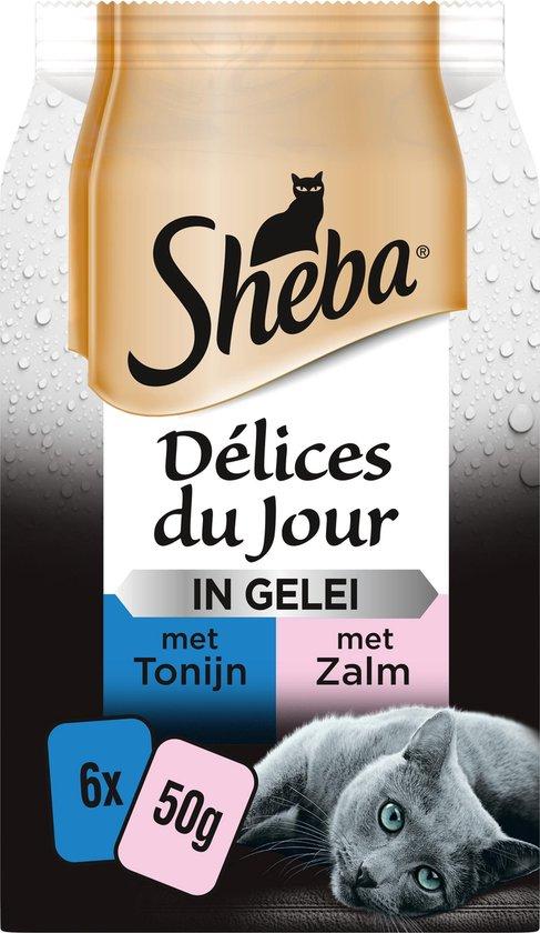 Sheba Delices du Jour in Gelei Katten Natvoer - Zalm&Tonijn - 36 x 50 gram
