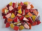 Keramische Mozaiek Steentjes Warme Mix 300 gram