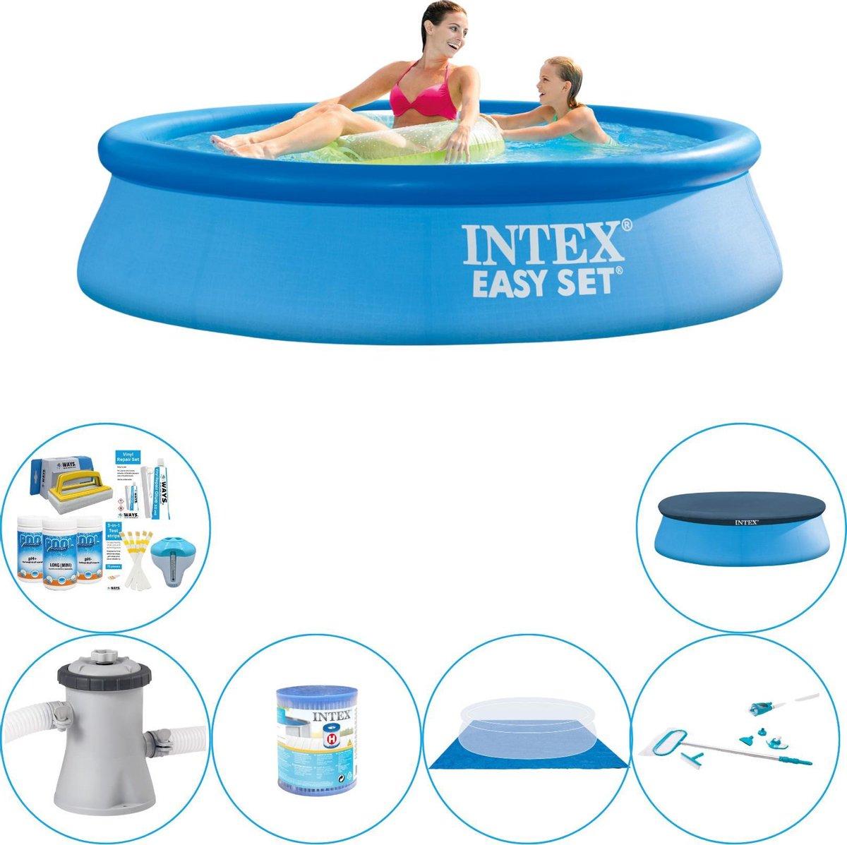 Intex Easy Set Rond 244x61 cm - Zwembad Met Accessoires