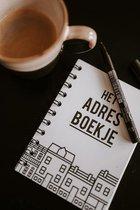 Prints Charming adresboek - Zwart/wit