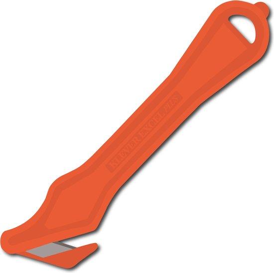 Klever Excel PLUS - Veiligheidsmes - Wegwerp - Oranje