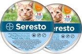 Seresto Teken- en Vlooienband Kat - Anti tekenmiddel - 2 stuks x 38 cm
