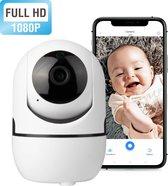 -HD Wifi Babyfoon met Camera - Camera Beveiliging - 1080P - Geluid en Bewegingsdetectie - 4G/5G - Wit-aanbieding