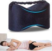 Kniekussen - Comfortabel Voor Zijslapers - Orthopedisch Beenkussen - Blauw