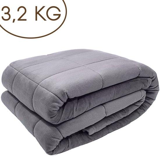 Lamiver Verzwaringsdeken - Verzwaringsdeken Kind - Weighted Blanket - Verzwaarde Deken - 3,2kg - 100 x 150cm
