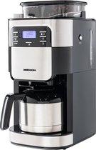 MEDION Koffiemachine met molen en thermoskan MD 19777 | LED display | Druppelstop | koffiebonenmolen | 900 watt | Inhoud 1,0 liter