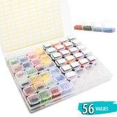 Afbeelding van Diamond Painting Opbergdoos 56 Vakjes | Diamond Painting Volwassenen | Sorteerdoos Diamond Painting Volwassenen | met Stickers speelgoed