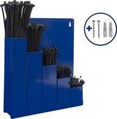 Kabelbinders/tyraps Set: opbergrek + 5x100 zwarte kabelbinders in div. maten + Kortpack pen (099.0217)
