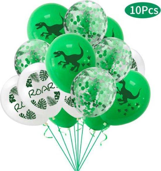 ProductGoods - 10x Dinosaurus 4 Ballonnen Verjaardag - Verjaardag Kinderen - Ballonnen - Ballonnen Verjaardag - Dino - Dinosaurus - Kinderfeestje