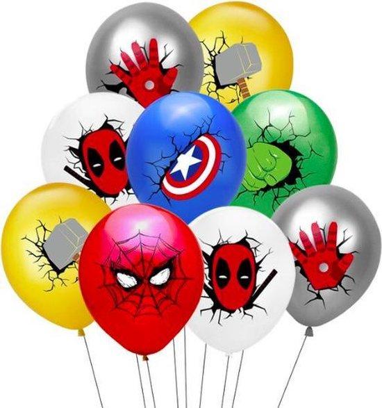 ProductGoods - 10x Superhelden Ballonnen Verjaardag - Verjaardag Kinderen - Ballonnen - Ballonnen Verjaardag - Superhelden - Kinderfeestje