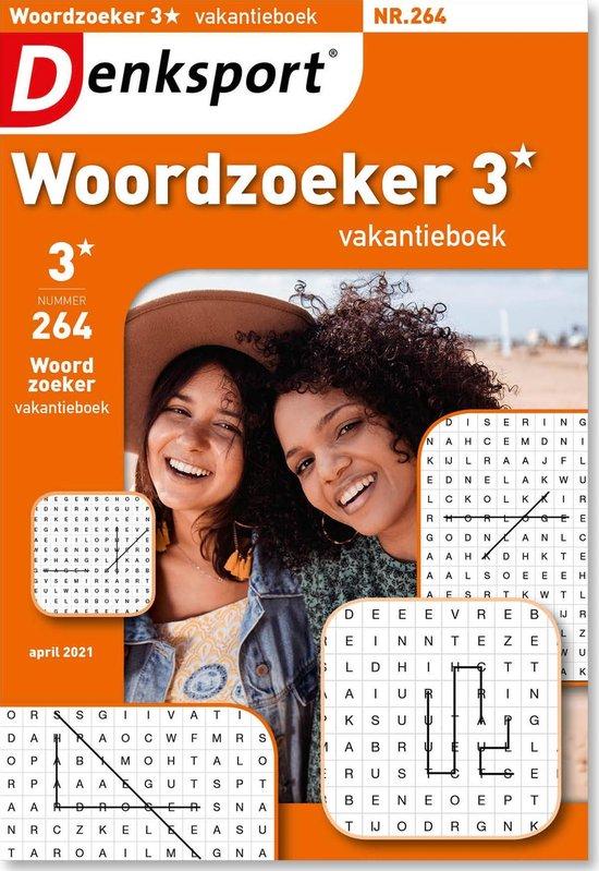 Afbeelding van Denksport Puzzelboek Woordzoeker 3* vakantieboek, editie 264