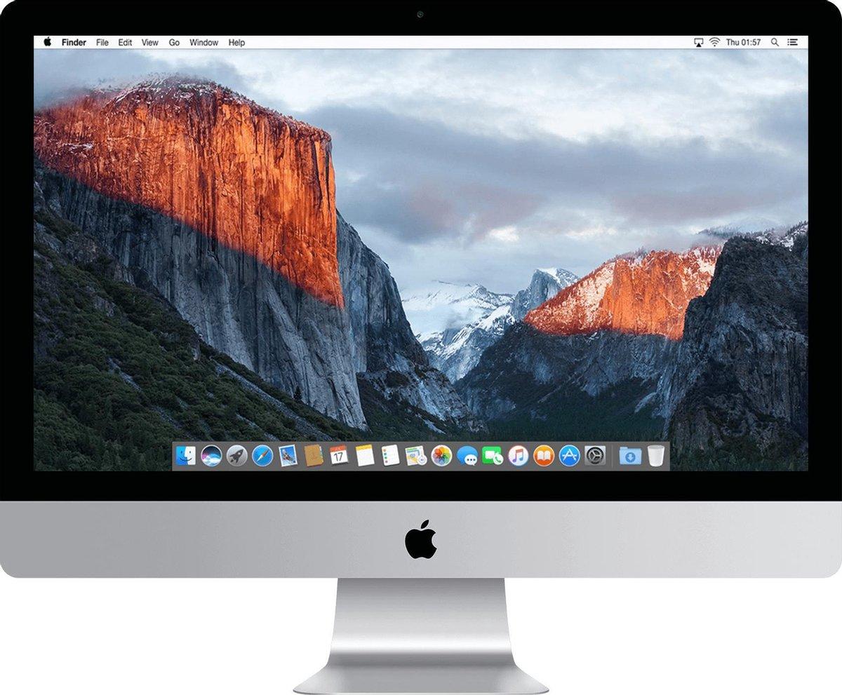 Apple iMac 21.5 inch Refurbished – Quad Core i5 2 8 Ghz – 8GB – 1TB SSD – Eind 2015 – A-grade