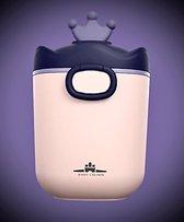 Baby voeding Bewaarbox - Bewaarbus - Bewaardoos - Bewaarbakjes - Reisbox - Design - Kroon  - Family Favorites - Melkpoederbox - Melkpoeder - Multi-functioneel - Bewaren - Family Favorites - ROZE - PAARS