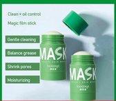 Green mask stick  - Huidverzorging - Gezichtsmasker - Kleimasker - Mee Eters & Acne verwijderen - Acne verzorging - Vette huid - Mee-eter verwijderaar - Poriën reiniger -Blackhead - Verzachtend -Verkoelend - Dermatologisch getest