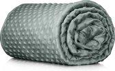 Veilura Verzwaringsdeken Hoes - Heerlijk zachte Minky Fleece hoes van 150 x 200 cm voor Veilura weighted blanket - Top kwaliteit - Grijs