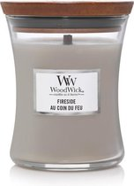Woodwick Hourglass Medium Geurkaars - Fireside
