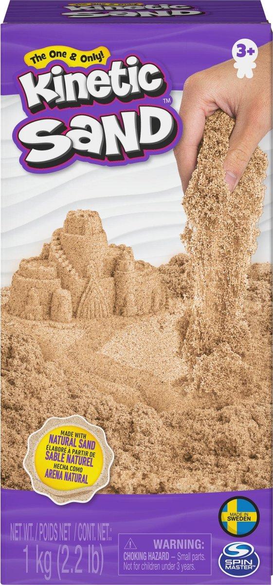 Kinetic Sand , 1 kg bruin natuurlijk zand om te mengen, kneden en maken, vanaf 3 jr.