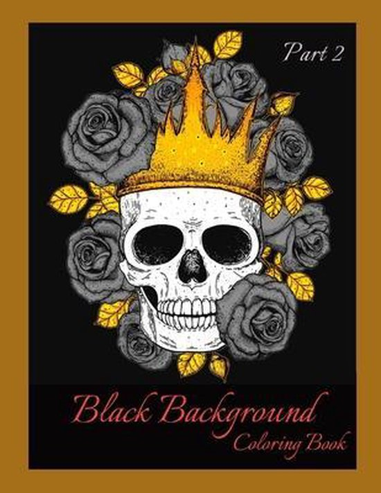 Black Background Coloring Book Part 2