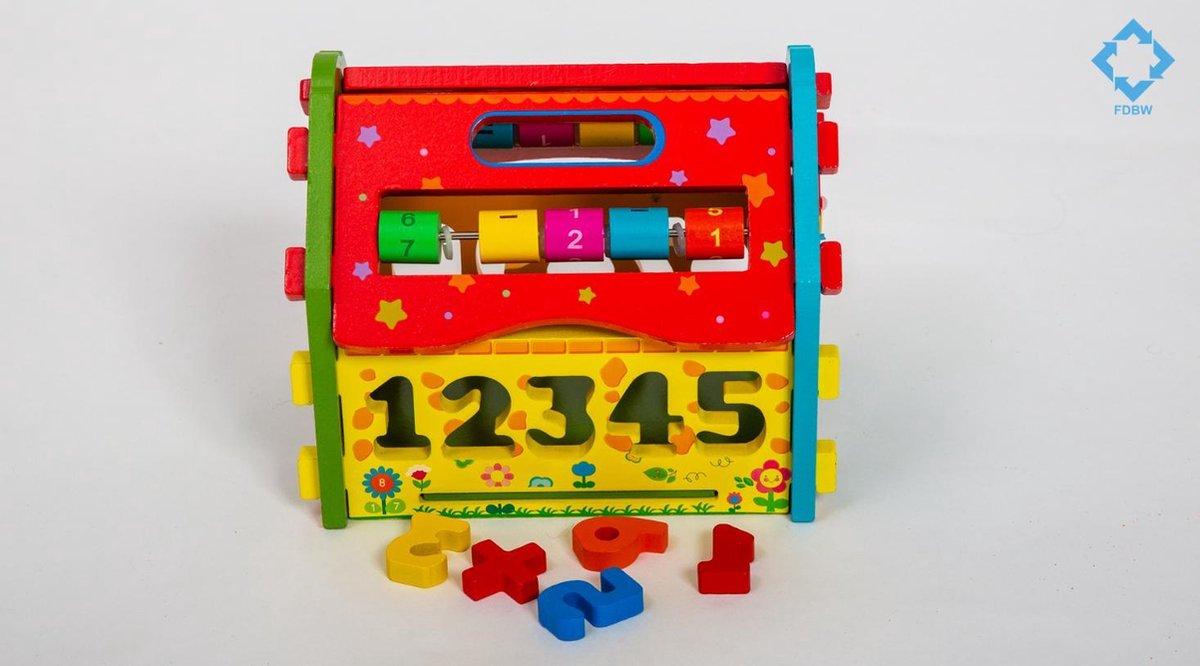 Blokkendoos Huis | Vormenstoof Huisje | Blokkenspel Hout - Educatief Speelgoed